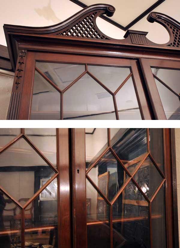 アンティーク 家具 デスク・ビューロー ブックケース ビューロー(チッペンデール)
