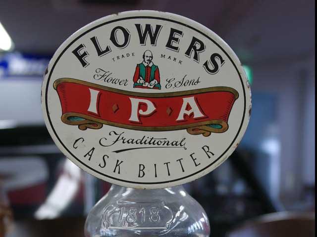 雑貨(パブ・グッズ) カウンター用品 ビア・ハンドル用プレート(Flowers Cask Bitter IPA)