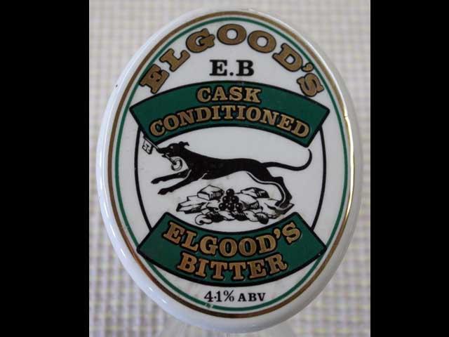 雑貨(パブ・グッズ) カウンター用品 ビア・ハンドル用プレート(Elgoods's Bitter)