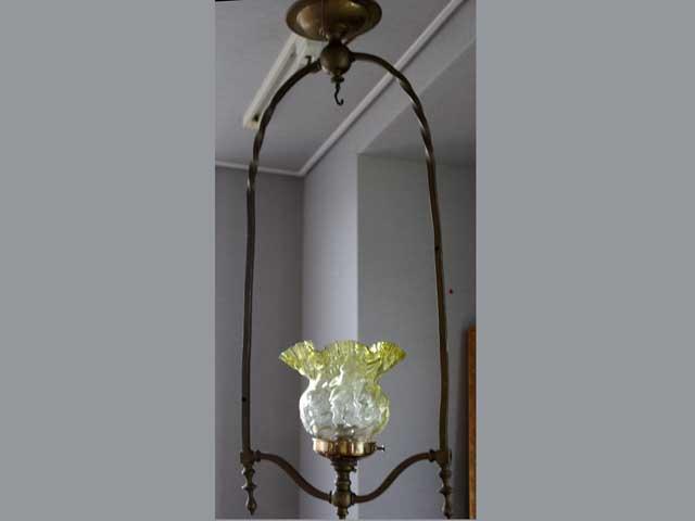 アンティーク 照明 ランプ(すでに組み合わせられている照明) ランプセット(385シェード含む)
