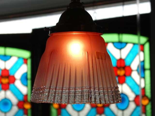 アンティーク 照明 ランプ(すでに組み合わせられている照明) ランプセット(322シェード含む)