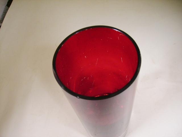 雑貨(キッチン) 雑貨ガラスほか ガラス バーズ(花器) レッド
