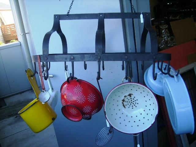 雑貨(キッチン) キッチン用品 アイアン カントリー キッチン道具ハンギング