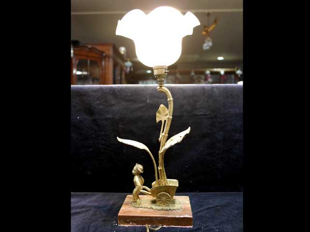アンティーク 照明 ランプ用ブラケット(テーブル・ウォール用等) エンジェル ランプ・スタンド