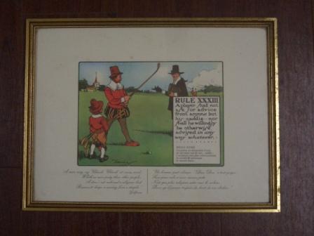 絵 (Rules of Golf XXXIII) 雑貨(ホビー) 絵・額入り品