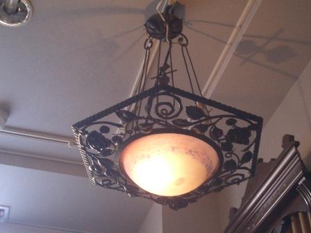 アールヌーボー様式 ハンギングランプ デュゲ,アンティーク 照明,シャンデリア・ハンギングランプ