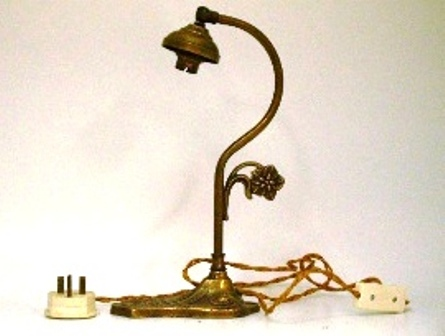 ランプ スタンド 真鋳 217-163 とペア,アンティーク 照明,ランプ用ブラケット(テーブル・ウォール用等)