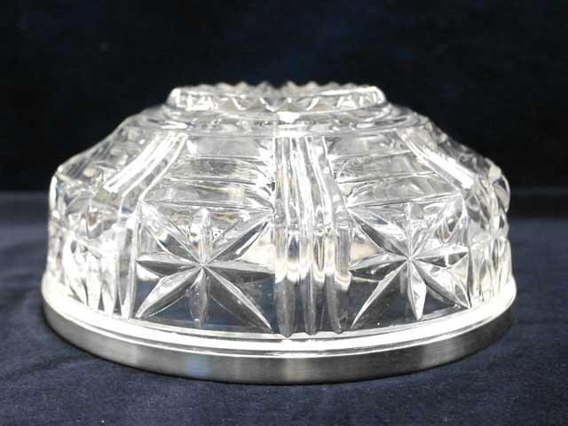 アンティーク ガラス クリアー系 サラダボール(小) モールドガラス