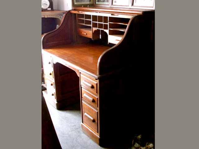 アンティーク 家具 デスク・ビューロー ダービーデスク(Derby Desk) ロールトップデスク