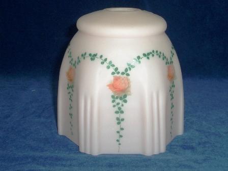 シェード ピンク・花柄 (349-SHD35とペア),アンティーク 照明,シェード