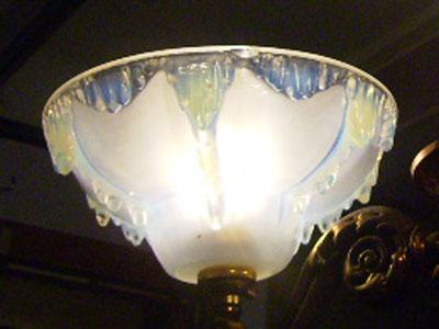 アンティーク シャンデリア 3灯 シェード付き セット