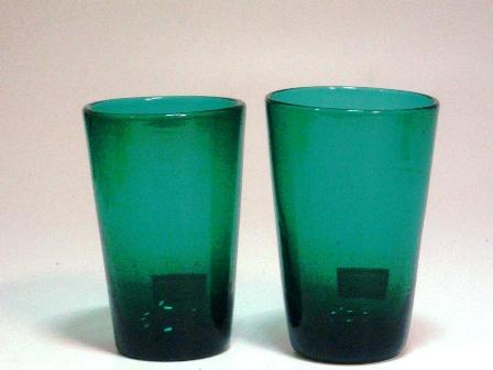アンティーク ガラス グリーン・ブルー系 グラス グリーン 1個 9.450-