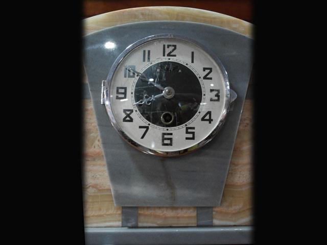 ビンテージ/コレクタブル 時計 大理石 時計+キャンドルセットx2