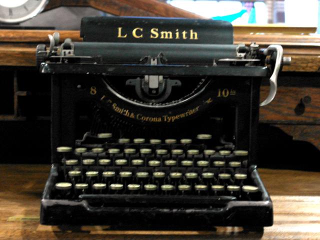 L C SMITH&CORONA タイプライター ビンテージ/コレクタブル 機械もの