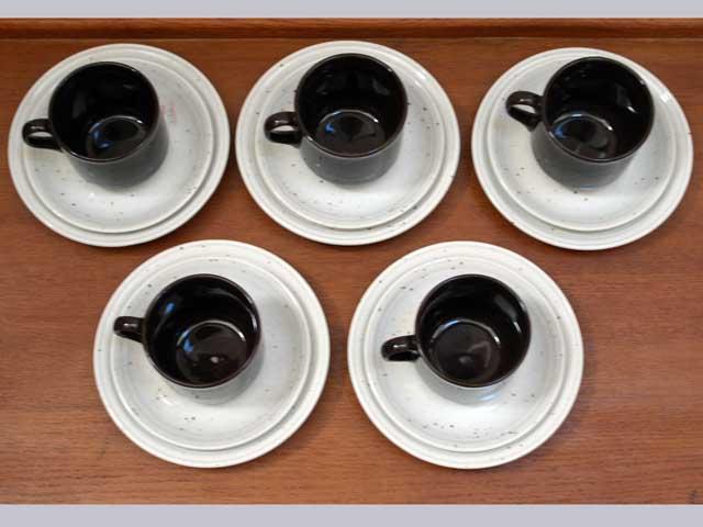 雑貨(キッチン) 雑貨陶器 コーヒーカップ トリオ5セット