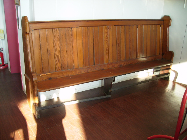 教会の長いす(ピュー),アンティーク 家具,チェア・ソファー