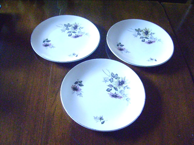 雑貨(キッチン) 雑貨陶器 バーレイ社 ケーキ皿 3枚セット