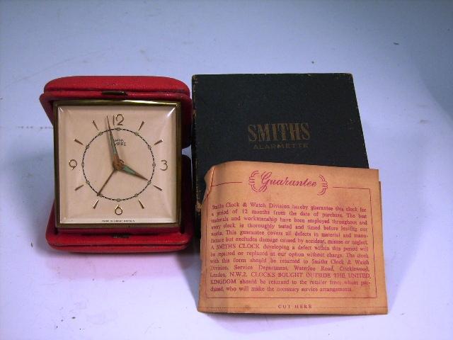 ビンテージ/コレクタブル 時計 Smith 目覚まし時計(携帯用)