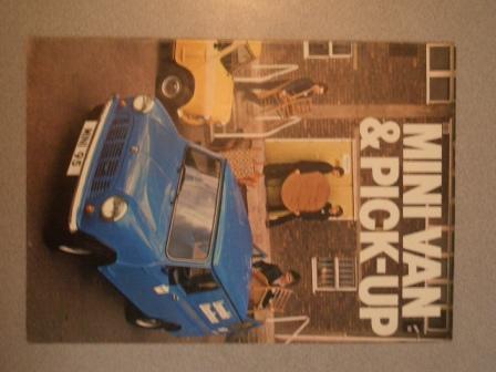 カタログ Mini Van & Pick-up オリジナル 当時物 オートモビリア 印刷物 カタログ