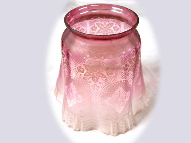 アンティーク 照明 シェード シェード クランベリー グラス