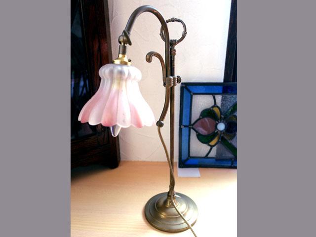 アンティーク 照明 ランプ用ブラケット(テーブル・ウォール用等) スタンドランプ 真鍮