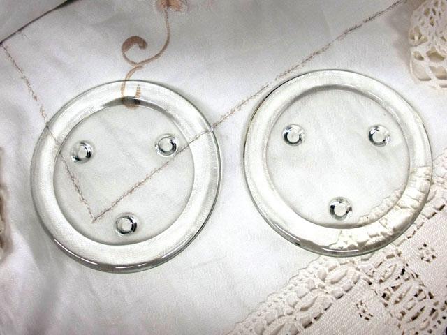 雑貨(キッチン) テーブル&キッチンウェア コースター ガラス(1)(2)セット