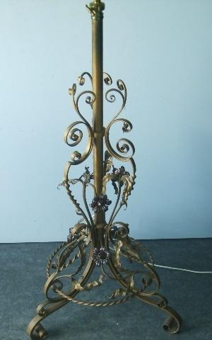 ランプスタンド(傘付き),アンティーク 照明,ランプ(すでに組み合わせられている照明)