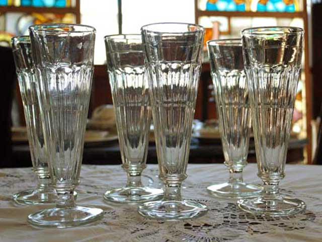 アンティーク ガラス クリアー系 クリア ガラスコップ 6個セット