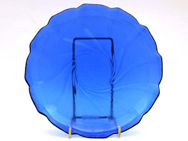 雑貨(キッチン) テーブル&キッチンウェア プレート ブルーガラス 1枚1200円