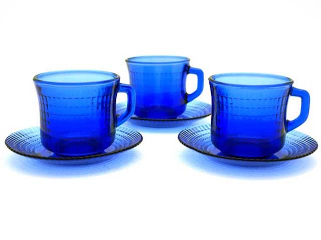 雑貨(キッチン) テーブル&キッチンウェア カップ&ソーサー ブルー 1脚1450円