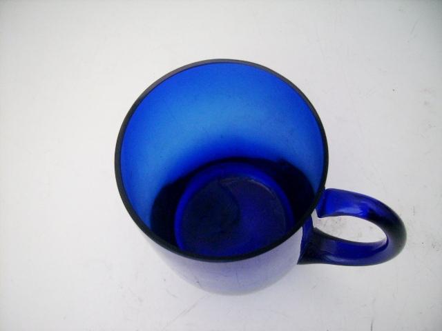ビアジョッキ グラス 6客セット,アンティーク ガラス,グリーン・ブルー系