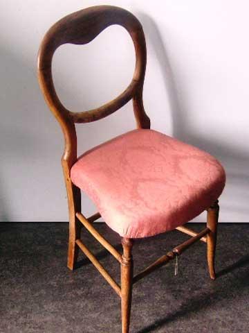 チェアー 1脚 張替え済み(ホースヘア使用)アンティーク 家具 チェア・ソファー