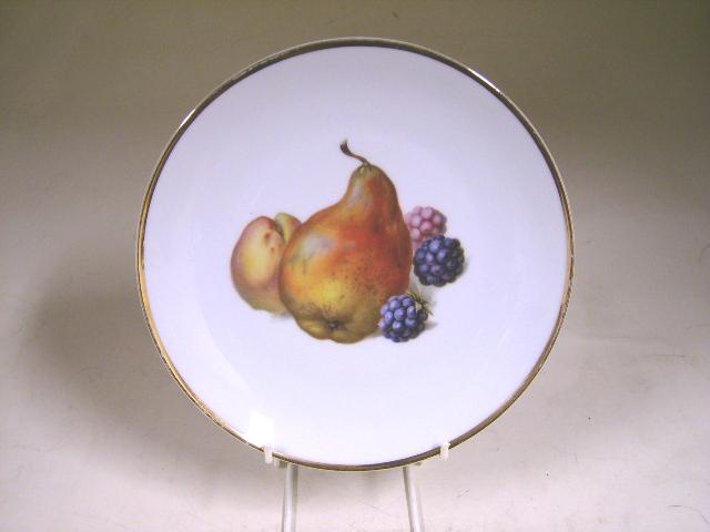 アンティーク 陶磁器 飾り用プレート プレート BAVARIA 洋ナシ