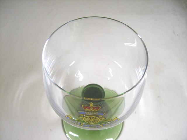 アンティーク ガラス グリーン・ブルー系 ジャーマニー グラス 6脚 箱付き 新品 未使用