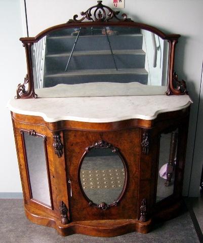 シフォニア ミラーバックサイドボード,アンティーク 家具,サイドボード・チェスト・ドレッサー
