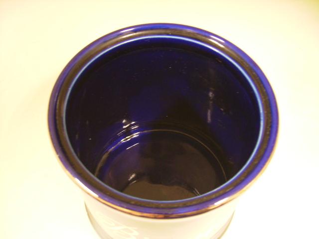雑貨(キッチン) 雑貨陶器 キャニスター ブルー
