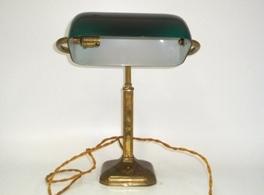 アンティーク 照明 ランプ(すでに組み合わせられている照明) デスク ランプ グリーン