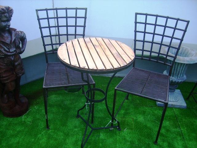アンティーク 建材 ガーデニング関係 ガーデン テーブル&チェアー2脚セット