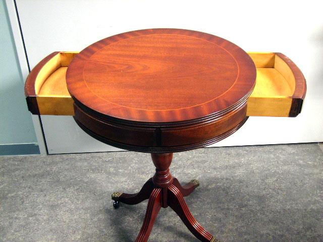 アンティーク 家具 テーブル・ダイニングセット 引き出し付ラウンドテーブル