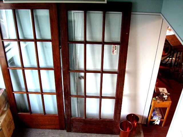 アンティーク 建材 ドア ドア(ガラス)1枚