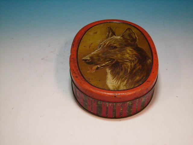 雑貨(ホビー) ティン(缶) ビンテージ ティン 犬