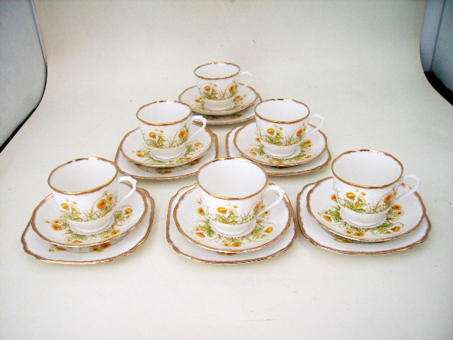 ロイヤルアルバート 1920Y  8点セット,アンティーク 陶磁器,食器 カップ&ソーサー他