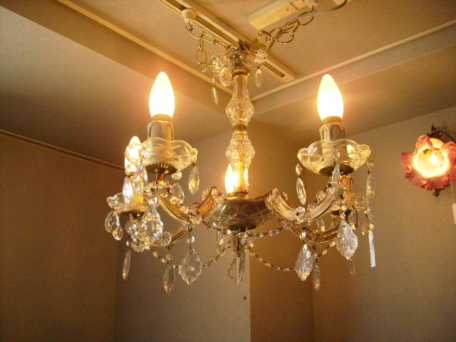 5灯 シャンデリア,アンティーク 照明,シャンデリア・ハンギングランプ