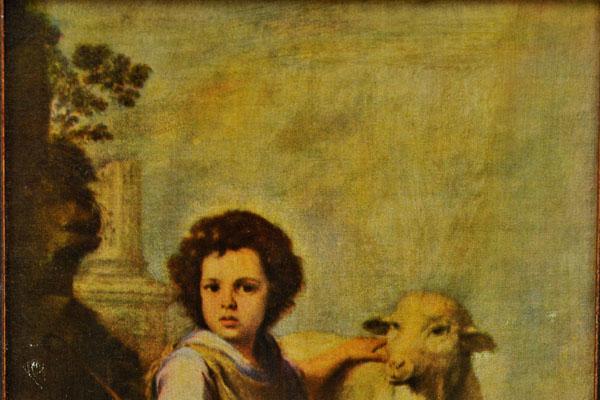 雑貨(ホビー) 絵・額入り品 絵 子供と羊