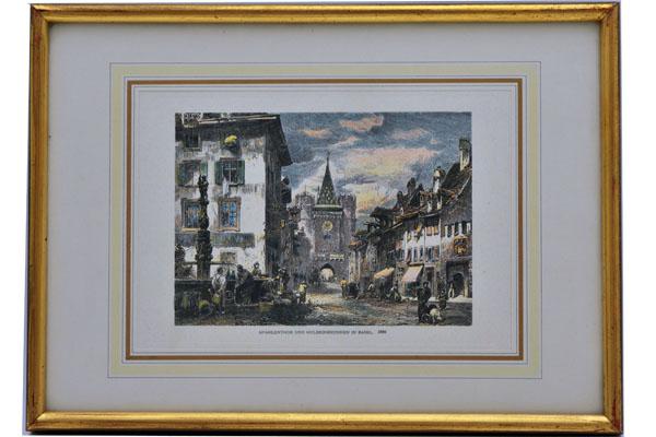 雑貨(ホビー) 絵・額入り品 絵 欧州諸都市の風景(6)