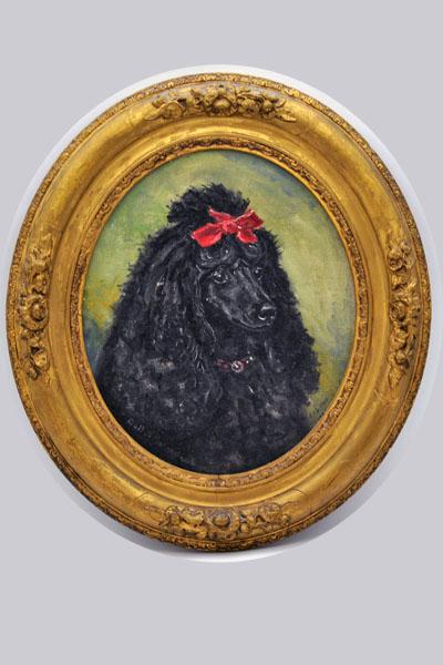 雑貨(ホビー) 絵・額入り品 絵 犬
