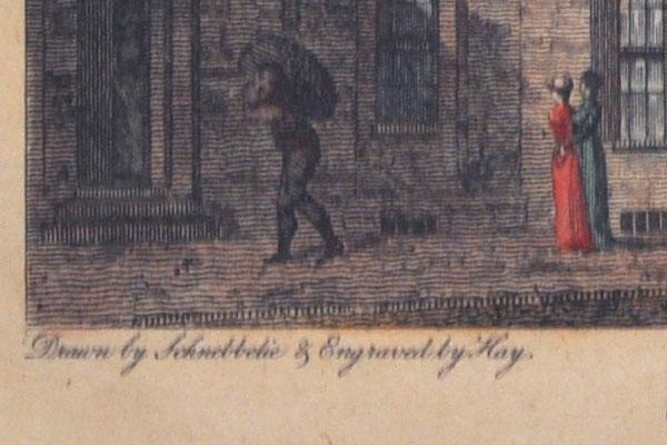雑貨(ホビー) 絵・額入り品 絵 古ロンドン風景(1)