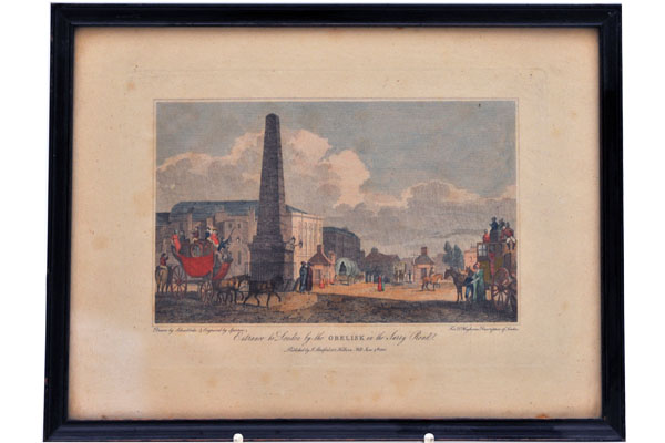 絵 古ロンドン風景(2) 雑貨(ホビー) 絵・額入り品