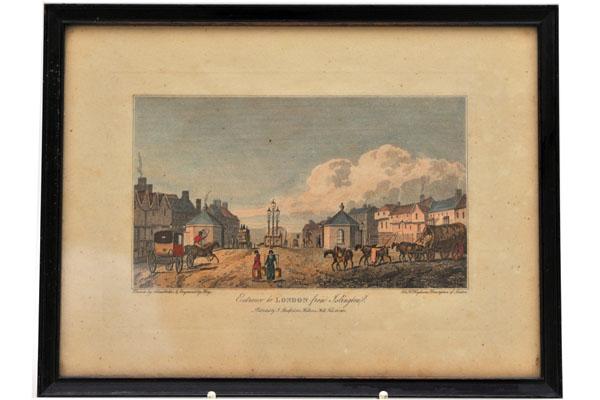 絵 古ロンドン風景(4) 雑貨(ホビー) 絵・額入り品