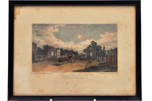 雑貨(ホビー) 絵・額入り品 絵 古ロンドン風景(5)